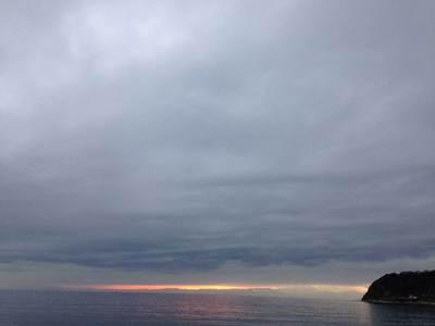逗子海岸 夕陽