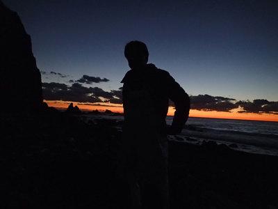 富戸の浜 夕日