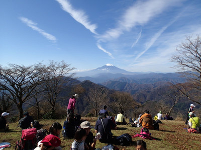 丹沢 鍋割山 富士山