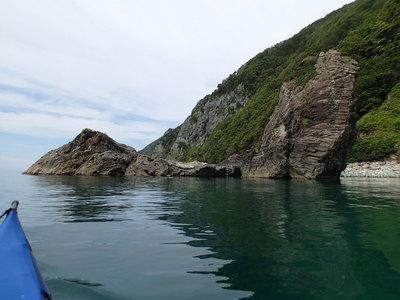 下北半島 材木岩