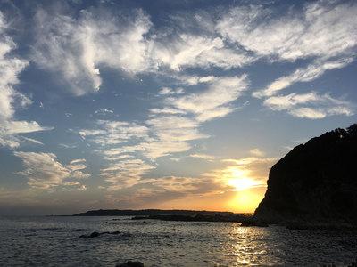 三浦半島 大黒谷 夕陽