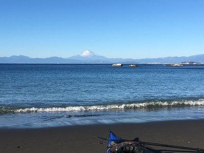 葉山公園 大浜 富士山