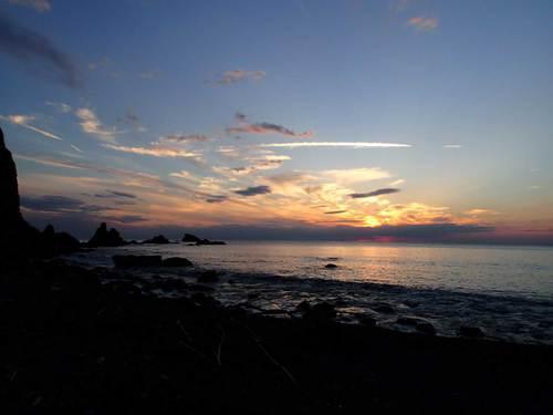 富戸の浜 夕焼け