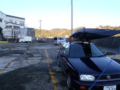 外浦海岸 駐車場